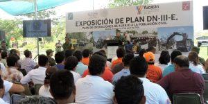 Alcaldes y directores de Protección Civil en Yucatán conocen Plan DN-III-E