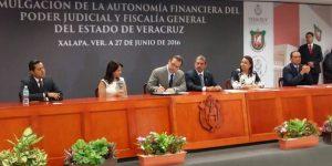 Histórica promulgación de la autonomía financiera de la Fiscalía y el Poder Judicial en Veracruz