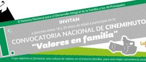 """Primera convocatoria nacional de Cineminuto """"Valores en Familia"""""""