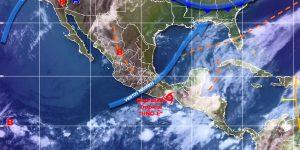 Se pronostican lluvias intensas en Chiapas, muy fuertes en Oaxaca y Tabasco