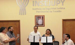 Convenio de colaboración entre Insejupy e Indemaya