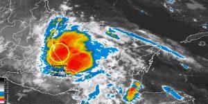 La Tormenta Tropical Danielle en el Golfo de México