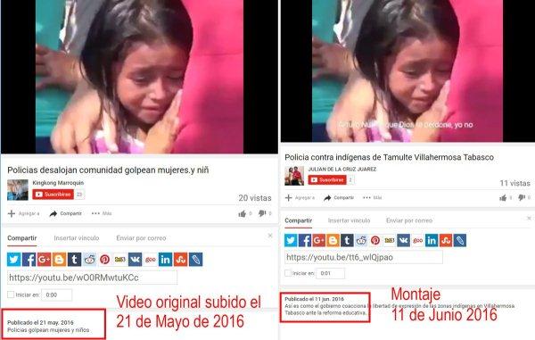 Falso video circula en redes sociales