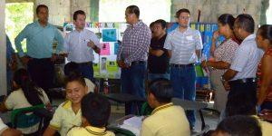 """Inicia el programa """"Presidente en Tu Escuela"""", visitando a niños expulsados por la contaminación: Gaudiano"""
