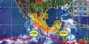 La zona de inestabilidad en el Océano Pacífico generará lluvias muy fuertes en el norte