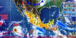 Se pronostican chubascos con tormentas locales muy fuertes en la República Mexicana