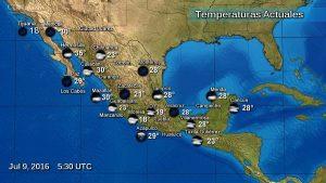 Chubascos con tormentas muy fuertes se prevén para el centro, el sur y el sureste de México