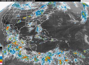 Chubascos fuertes con tormentas se prevén en Durango, Sinaloa, Guerrero, Oaxaca y Veracruz