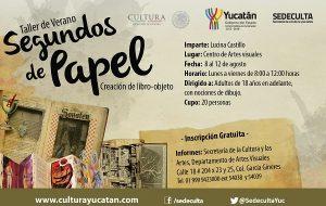 Impartirán en Yucatán taller para crear libros como piezas de arte