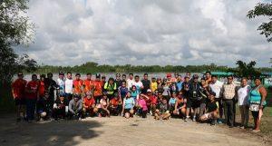 Exitoso recorrido de cicloturistas por los Pantanos de Centla