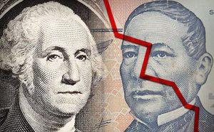 Cae peso mexicano, dólar alcanzó los 20.08
