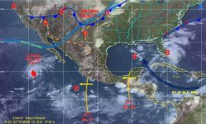 Se prevén tormentas intensas en Campeche, Chiapas, Tabasco y Oaxaca