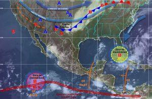 Las próximas horas se prevén tormentas muy fuertes en Chiapas y la Península de Yucatán