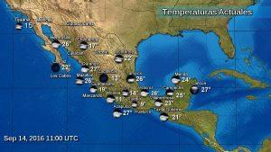 Tormentas intensas en Chiapas y muy fuertes en Guerrero, Campeche, Tabasco, Veracruz y Oaxaca