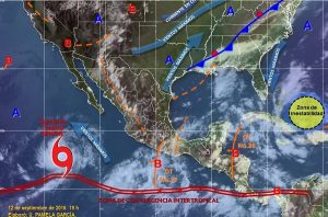 Se prevén tormentas intensas en regiones de Quintana Roo, Campeche, Chiapas y Oaxaca