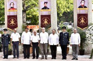 Rinden honores a los Niños Héroes gobierno de Tabasco