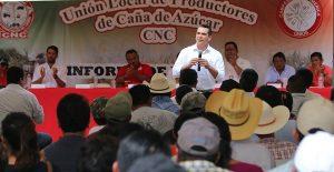 Refrenda el gobernador Alejandro Moreno Cárdenas respaldo al sector cañero