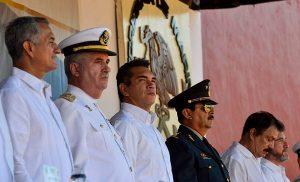 Asiste Alejandro Moreno Cárdenas a ceremonia conmemorativa por el Día de la Armada de México