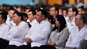El gobernador de Yucatán Rolando Zapata Bello, presente en cuarto informe del Gobierno de Tabasco
