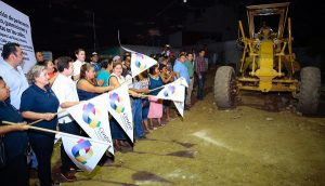 Da Gaudiano banderazo a pavimentación en siete calles de la Asunción Castellanos