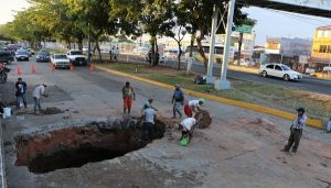 Repara SAS hundimiento en Adolfo Ruiz Cortines