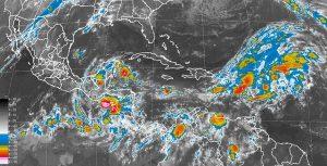Se mantiene el pronóstico de tormentas fuertes en Veracruz, Campeche, Quintana Roo y Chiapas