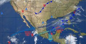 En Veracruz, Tabasco y Chiapas se prevén tormentas intensas para las próximas horas