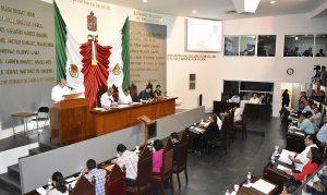El Secretario de Gobierno, Gustavo Rosario comparece ante el Pleno de la LXII Legislatura en Tabasco