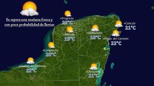 Se mantiene Yucatán con noches y mañanas frescas, con temperaturas calurosas durante el día