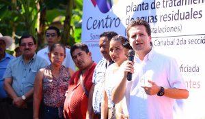Invierten 25 MDP para planta de tratamiento, cárcamo y drenaje en Anacleto Canabal 2ª