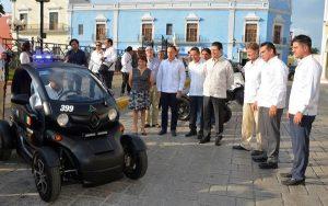 En servicio tres nuevas patrullas ecológicas para vigilancia en el centro histórico de Campeche