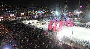 El Jefe de Gobierno inauguró pista de hielo CDMX y alumbrado navideño
