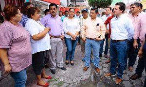 Mantiene Gaudiano dinámica de trabajo; resolvió peticiones de habitantes en la Zona Centro