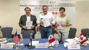 Firman México, Estados Unidos y Canadá acuerdo sobre comercio justo y transparente de cárnicos
