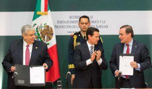 Gobierno de la República y sectores productivos firman Acuerdo para Fortalecer y Proteger la Economía Familiar