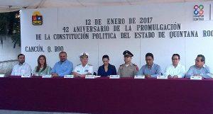 Conmemora gobierno municipal 42 Aniversario de la Promulgación de la Constitución de Quintana Roo