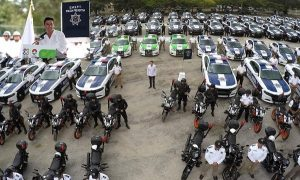 Remberto Estrada realiza entrega histórica de nuevas y modernas patrullas para Benito Juárez