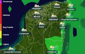 Temperaturas calurosas para la semana, sin descartar lloviznas en la península de Yucatán