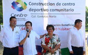 Da Gaudiano banderazo a la construcción de centro deportivo comunitario en Gaviotas