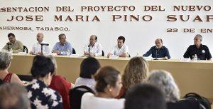 Presentan proyecto del nuevo mercado Pino Suárez en la capital tabasqueña