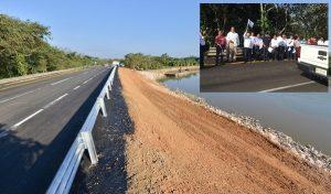 Inaugura Núñez apertura del tramo de la Majahua en la carretera Teapa – Villahermosa