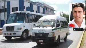 Remberto Estrada Rechaza aumento al precio del transporte urbano en Benito Juárez