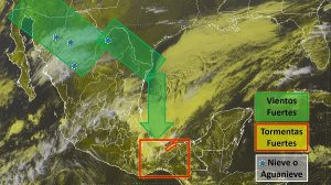 Se prevén lluvias intensas en zonas de Chiapas, Oaxaca, Tabasco y el sur de Veracruz