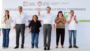 """Se benefician familias bonfileñas con el programa """"Rescatando espacios"""""""