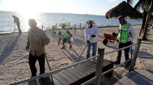 Gobierno de Remberto Estrada da mantenimiento a más de 22.9 millones de M2 de playas