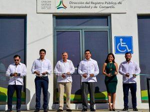 Inaugura Alejandro Moreno Cárdenas oficinas del registro público de la propiedad y el comercio