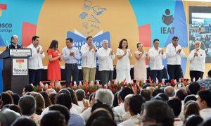Da el gobernador de Tabasco Arturo Núñez banderazo a cruzada contra rezago educativo