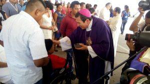 Celebra Obispo de Tabasco, Misa en el Hospital de niño en Miércoles de Ceniza