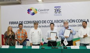 Firman convenio Centro y la Asociación Mexicana de la Industria de la Construcción