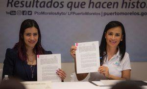 Firma Laura Fernández convenio para el intercambio de información con la SEDESOL